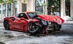 Choque Ferrari 488 GTB