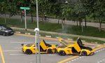 Lamborghini Aventador choque