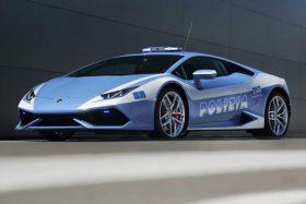 Lamborghini Huracan policia italiana