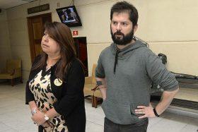 Claudia Mix y Gabriel Boric