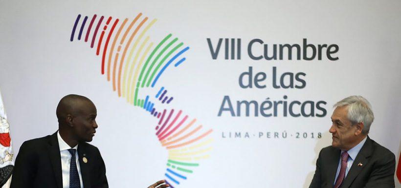 Piñera junto al asesinado presidente de Haití.