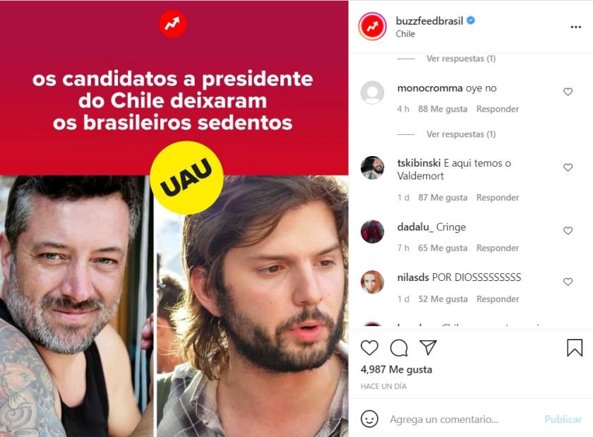 El medio brasileño destacó el atractivo de Sebastián Sichel y Gabriel Boric.