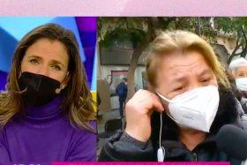 La señora Nieves no ocultó su pena en Hola Chile