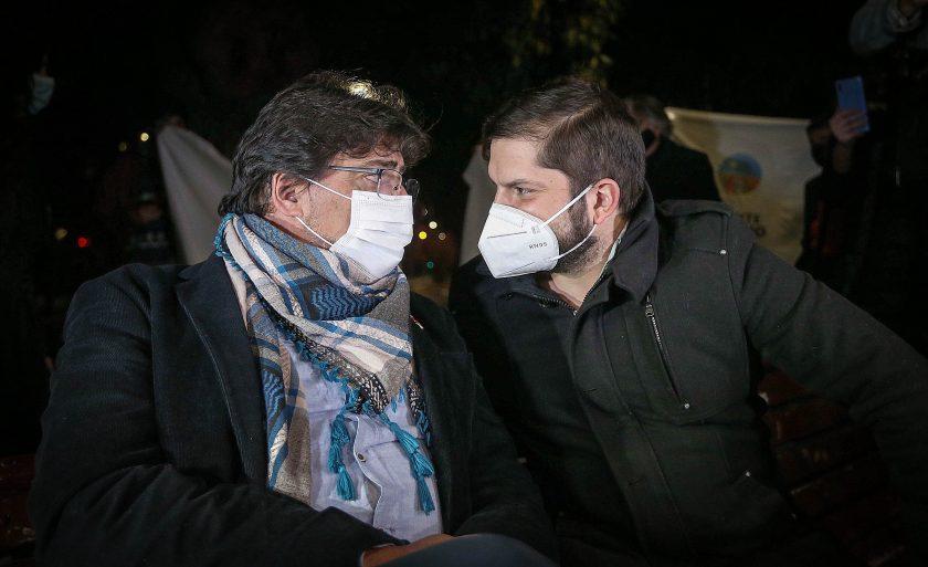 Daniel Jadue y Gabriel Boric.