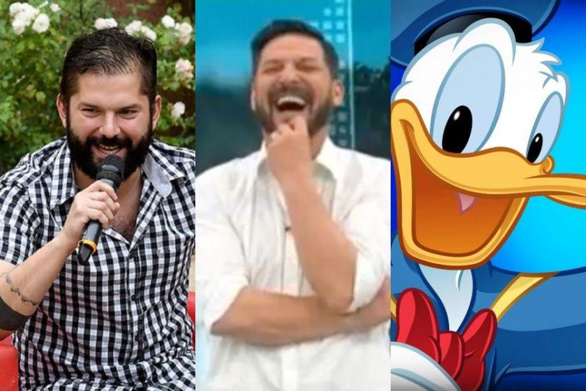 Gabriel Boric imitió al Pato Donald en entrevista con Rafael Cavada.