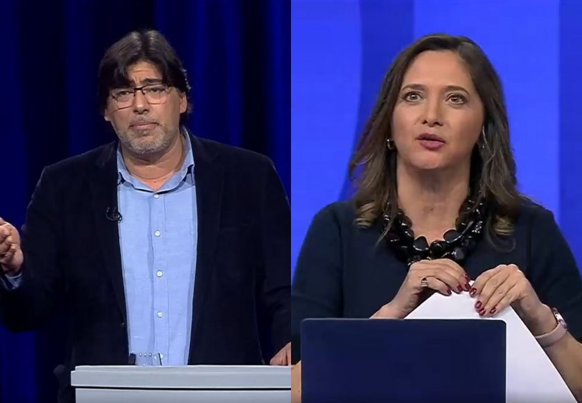Daniel Jadue y Mónica Pérez