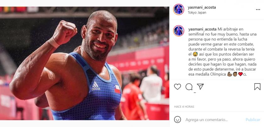 """Yasmani Acosta """"estalló"""" en su cuenta de Instagram."""
