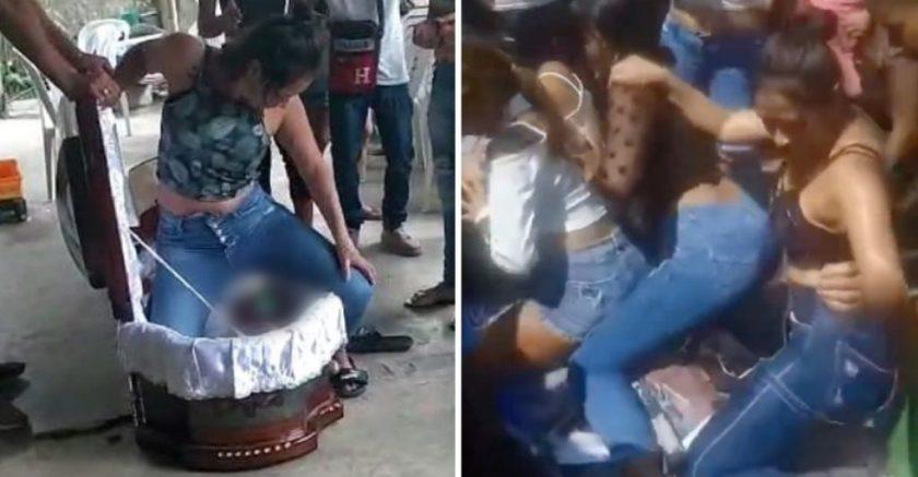 Delincuente en Ecuador es despedido con un extraño baile.