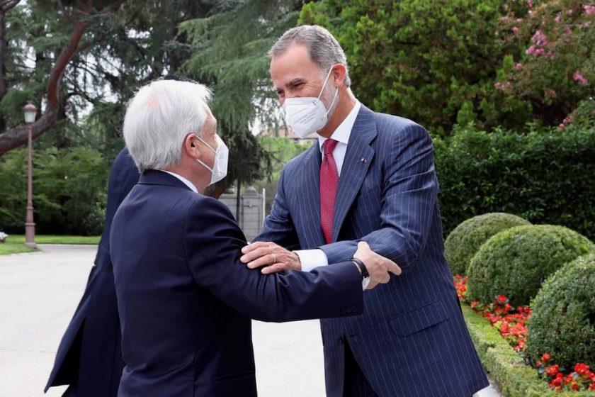 El Rey de España y Piñera...