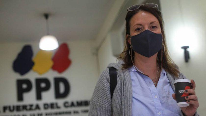 La presidenta del PPD, Natalia Piergentili.